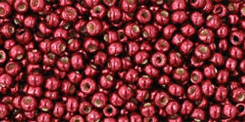 Toho Beads 11/0 Round Permanent Finish Galvanized Brick Red 8g