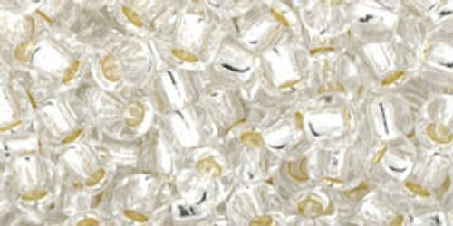 Toho Seed Beads 6/0 Round #37 Silver Lined Crystal 50 gram pack
