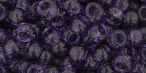 Toho Bulk Beads 6/0 Round #38 Transparent Sugar Plum 250 gram