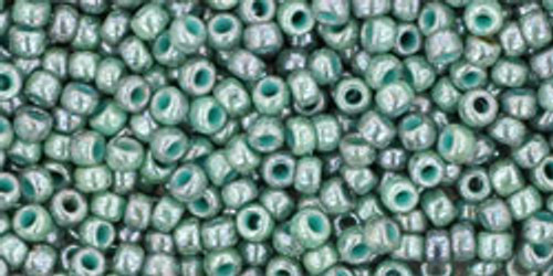 Toho Beads 11/0 Round #379 Marbled Opaque Turquoise Blue 20 gram