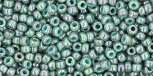 Toho Bulk Beads 11/0 Round #377 Marbled Opaque Turquoise Blue 250g