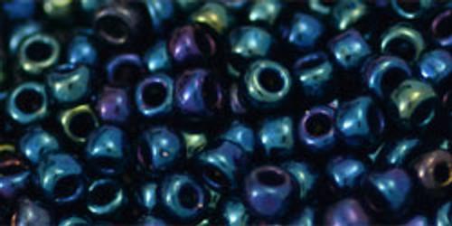 Toho Seed Beads 6/0 Round #41 Metallic Nebula 50 Gram Pack