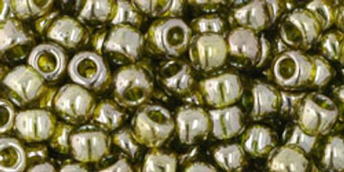 Toho Beads 6/0 Round #44 Gold Lustered Green Tea 250g Factory Pak