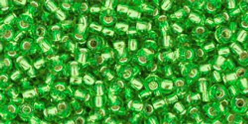 Toho Seed Beads 11/0 Rounds Silver-Lined Peridot