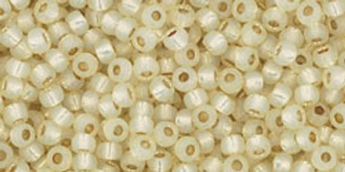 Toho Beads 11/0 Round Permanent Finish Silver Lined Milky Jonquil 8g