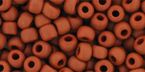 Toho Seed Beads 6/0 Round #47 Opaque Frosted Terra Cotta 50 gr.