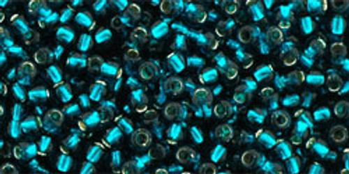 Toho Seed Beads 11/0 Rounds Silver-Lined Teal