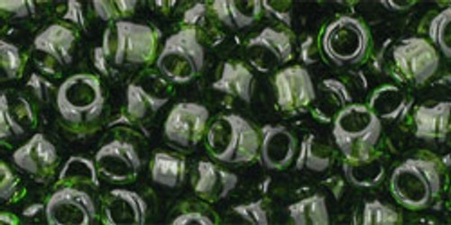 Toho Seed Beads 6/0 Round #49 Transparent Olivine 50 gram pack