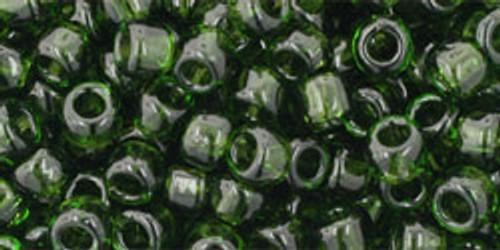 Toho Bulk Beads 6/0 Round #49 Transparent Olivine 250g Factory Pak