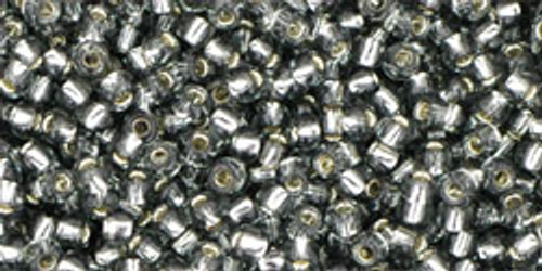 Toho Seed Beads 11/0 Rounds Silver-Lined Gray