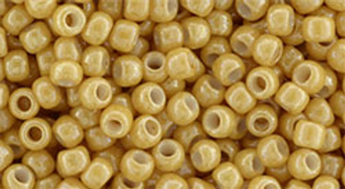 Toho Bulk Beads 8/0 Round #145 Opaque Lustered Dark Beige 250g