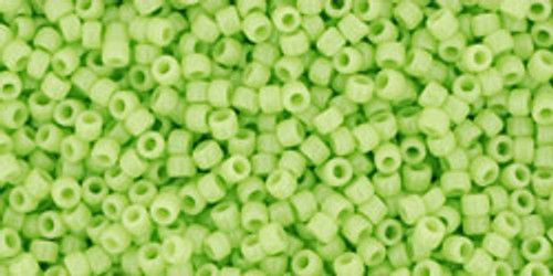 Toho Seed Beads 15/0 Round #13 Opaque Sour Apple 50  gram