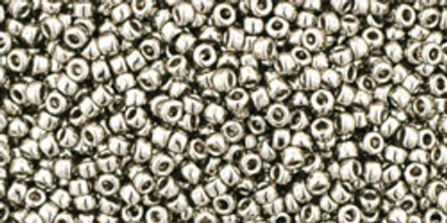 Toho Seed Beads 15/0 Round (Metallic) Nickel 9 gram tube