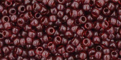 Toho Seed Beads 11/0 Round Transparent Garnet 8 gram tube