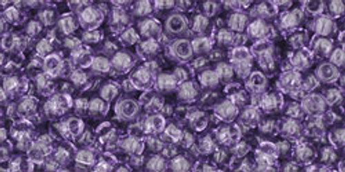 Toho Seed Beads 11/0 Round Transparent Sugar Plum 8 gram tube