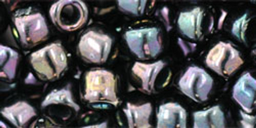 Toho Seed Beads 3/0 Round Metallic Iris Purple 8 Gram Tube