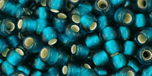 Toho Seed Beads 6/0 Rounds #51 Silver Lined Frosted Teal 50 grams