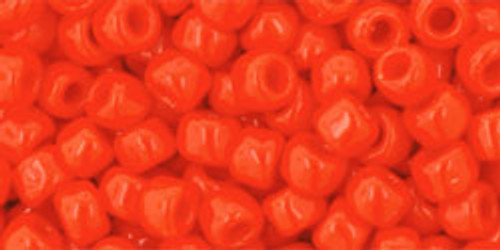 Toho Seed Beads 6/0 Rounds #52 Opaque Sunset Orange 50 grams