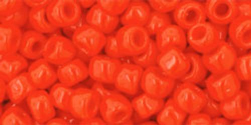 Toho Seed Beads 6/0 Rounds #52 Opaque Sunset Orange 250 grams
