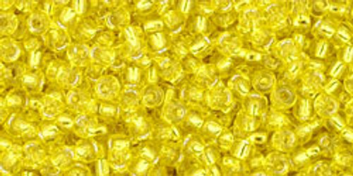 Toho Seed Beads 11/0 Rounds Silver-Lined Lemon