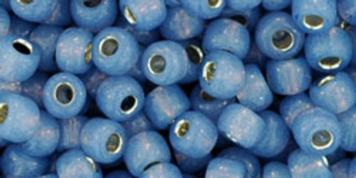 Toho Seed Beads 6/0 Rounds #54 Silver Lined Milky Montana 250 gram