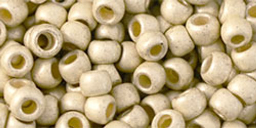 Toho Beads 6/0 Round Permanent Finish Matte Galvanized Aluminum 8