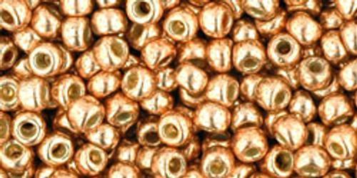 Toho Beads 8/0 Rounds Permanent Finish Galvanized Rose Gold 8g