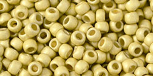 Toho Beads 8/0 Rounds Permanent Finish Frosted Galvanized Yellow Gold