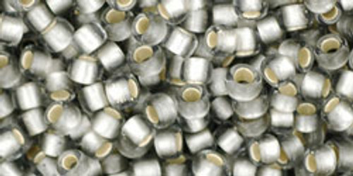 Toho Beads 8/0 Round #150 Silver Lined Frosted Black Diamond 50 gr.