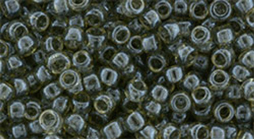 Toho Beads 8/0 Rounds #151 Transparent Lustered Smoke 20 gram
