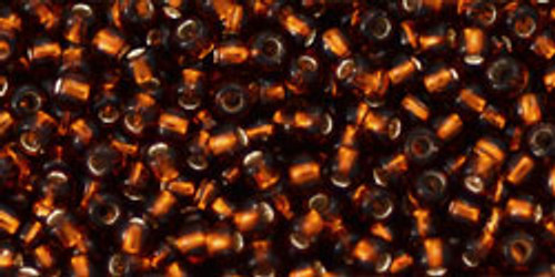 Toho Seed Beads 11/0 Rounds Silver-Lined Smoky Topaz
