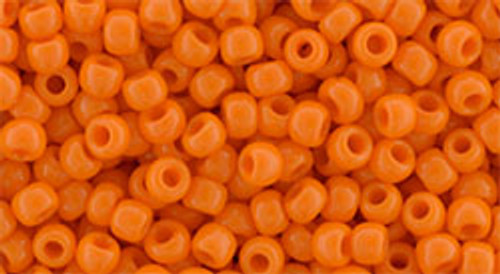 Toho Seed Beads 8/0 Round #153 Opaque Orange 50 Gram Pack