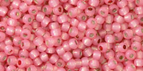 Toho Beads 11/0 Round Permanent Finish Silver Lined Milky Mauve 8 gram