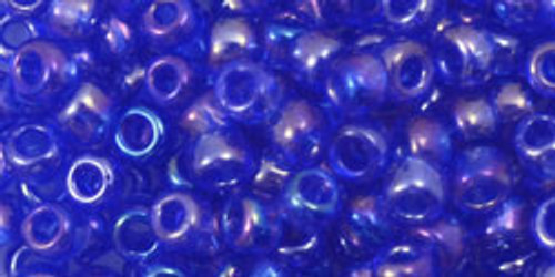 Toho Seed Beads 6/0 Rounds Transparent Rainbow Sapphire 8 gram