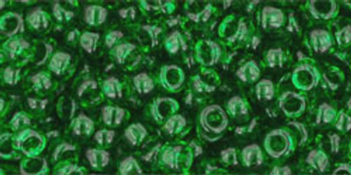 Toho Seed Beads 8/0 Round #154 Transparent Grass Green 50 gr.