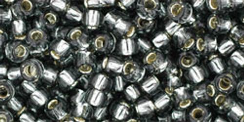 Toho Bulk Beads 8/0 Round #155 Silver Lined Gray 250 gram pack