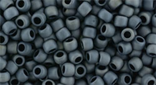 Toho Seed Beads 8/0 Round #160 Matte Color Gun Metal 20 gram pack