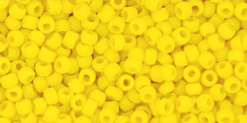 Toho Seed Beads 11/0 Rounds Opaque-Frosted Sunshine