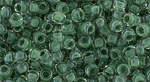 Toho Seed Beads 8/0 round #163 In Crystal Emerald Lined 20 gram