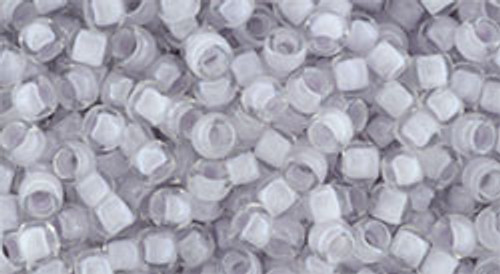Toho Seed Beads 8/0 Round #167 In Crystal Light Grape Lined 20g