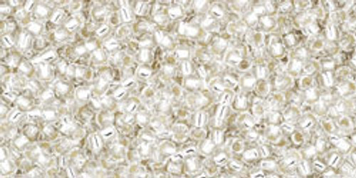 Toho Seed Beads 15/0 Round #19 Silver Lined Crystal 50 gram pack