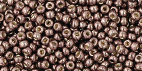 Toho Seed Beads 11/0 Round Permanent Finish Galvanized Mauve 8 gram
