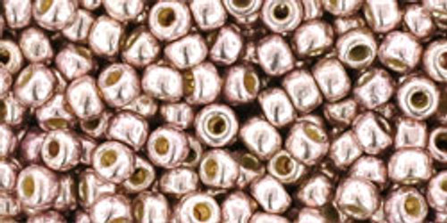 Toho Seed Beads 8/0 Round Permanent Finish Galvanized Lilac 8g