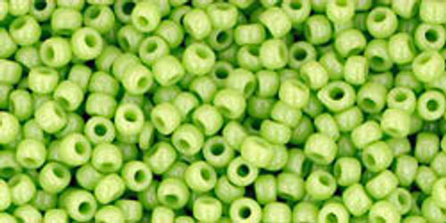 Toho Seed Beads 11/0 Rounds Opaque Sour Apple 8 gram tube