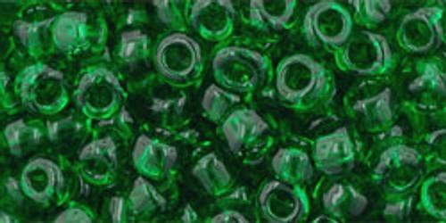 Toho Seed Beads 6/0 Round #67 Transparent Grass Green 50 gram