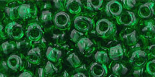 Toho Bulk Beads 6/0 Round #67 Transparent Grass Green 250 gram