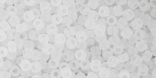 Toho seed Beads 11/0 Round #393 Ceylon Frosted Snowflake 20 gram