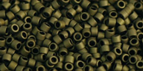 Toho Seed Beads #1 Treasure #617 Matte Dark Olive 10 gram