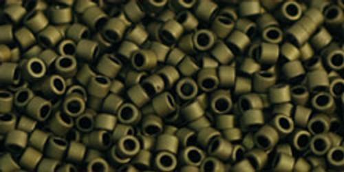 Toho Seed Beads #1 Treasure #617 Matte Dark Olive 10 gram