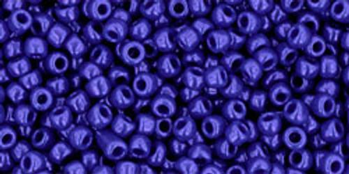 Toho Seed Beads 11/0 Rounds Opaque Navy Blue 8 gram tube